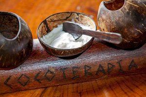 Coconut butter massage