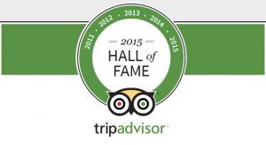 Rafiki Safari on the TripAdvisor Certificate of Excellence Hall of Fame