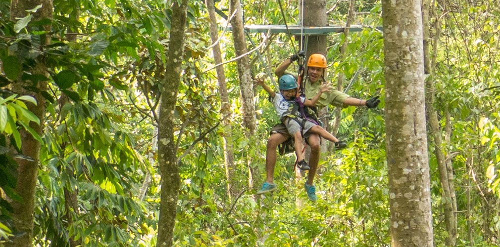 Canopy tour on one week safari