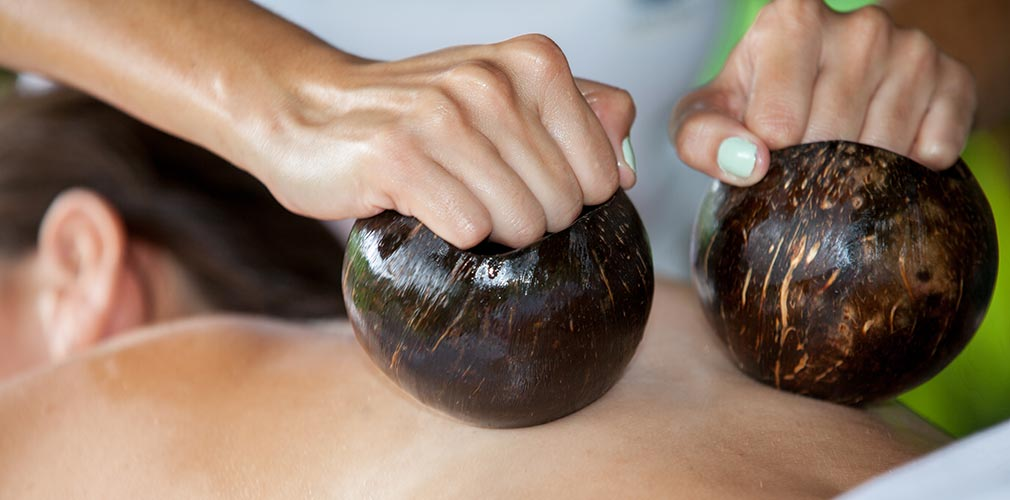 coconut massage