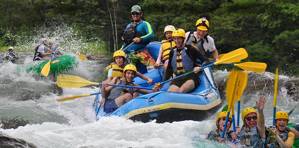 Dry season fun rafting on Savegre River