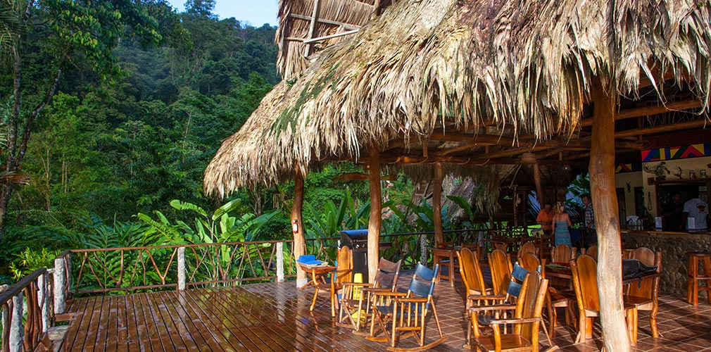 Porch of Costa Rican jungle lodge
