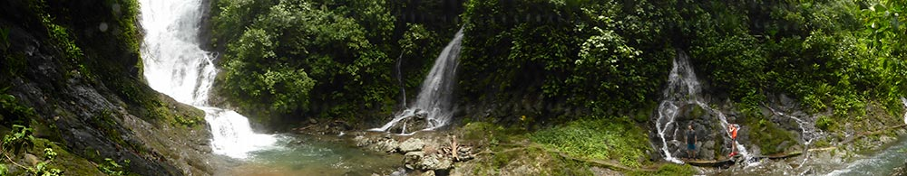 waterfall of Quebrada arroyo