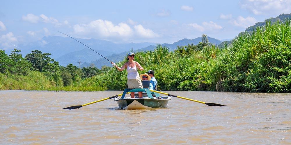 Scenic fishing trip