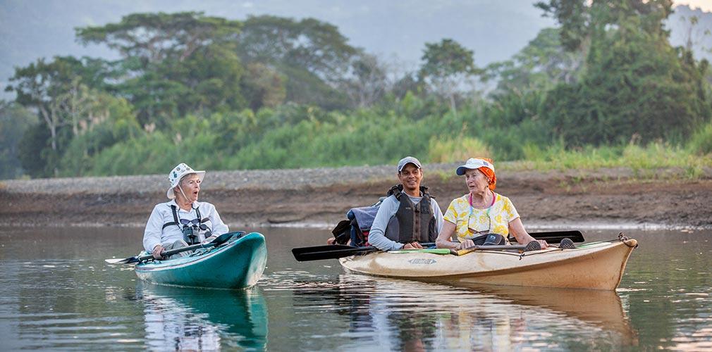 Calm kayak trip, Savegre River